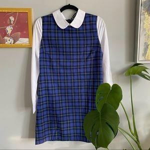 Vintage Plaid Long Sleeve Dress